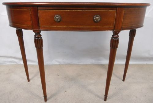 Table in the Georgian Style, Mahogany Bowfront Side Table